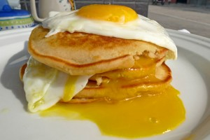 pancake with eggs